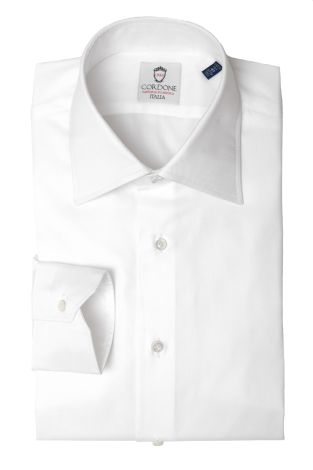 Cordone1956  - Classic Shirt Mod. Panama White Cotton   - Made by: Machine   - Type: business   - Made In Italy