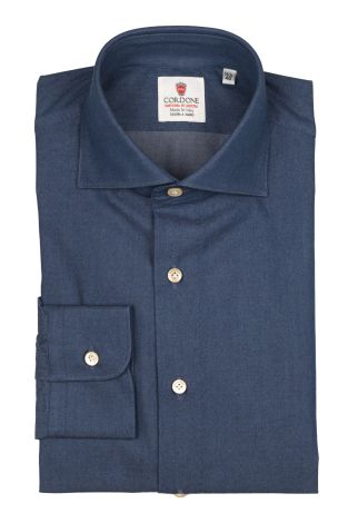 Cordone1956  - By-Hand Shirt   Mod. Denim Bluee Shirt By-Hand  - Made by: Handmade  - Type: casual   - Made In Italy
