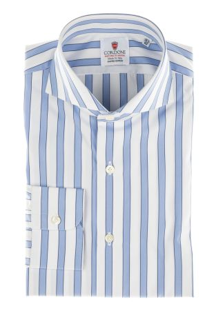 Cordone1956  - Classic Shirt Mod. Regent Azure  - Made by: Machine   - Type: casual  - Made In Italy