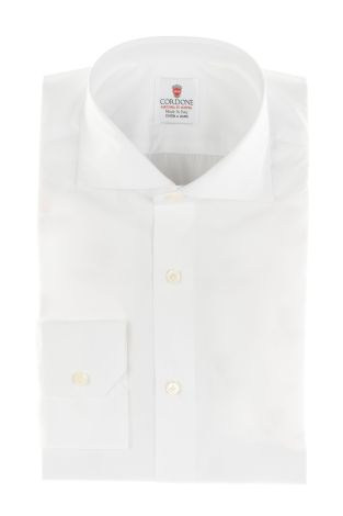 Cordone1956  - By-Hand Shirt   Mod. Pop Alumo White 170/2  - Made by: Handmade  - Type: business   - Made In Italy