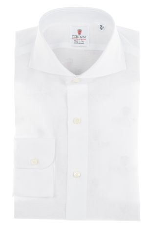 Cordone1956  - By-Hand Shirt   Mod. Royale Voile White   - Made by: Handmade  - Type: business   - Made In Italy