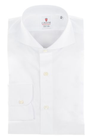 Cordone1956  - By-Hand Shirt   Mod. Chambray White   - Made by: Handmade  - Type: business   - Made In Italy