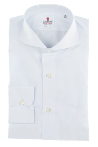 Cordone1956  - By-Hand Shirt   Mod. Chambray Azure   - Made by: Handmade  - Type: business   - Made In Italy