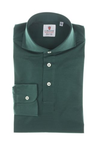 Cordone1956  - Shirt Polo Mod. Polo Green Shirt By-Hand  - Made by: Handmade  - Type: casual   - Made In Italy