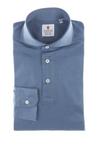 Cordone1956  - Shirt Polo Mod. Polo Carta Da Zucchero Shirt By-Hand   - Made by: Handmade  - Type: casual   - Made In Italy