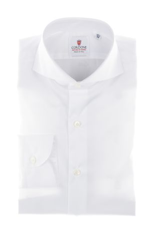 Cordone1956  - Classic Shirt Mod. White Non Iron Twill Cotton   - Made by: Machine   - Type: casual   - Made In Italy