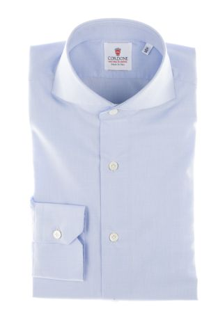 Cordone1956  - Classic Shirt Mod. Azure Non Iron Panama Cotton   - Made by: Machine   - Type: casual   - Made In Italy
