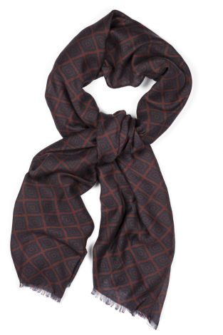 Cordone1956  - Scarf Mod. Scarves 9  - Fabric wool   - Color Bordeaux