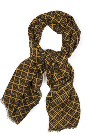Cordone1956 - Scarf Mod. Scarves 12 - Fabric wool  - Color mustard