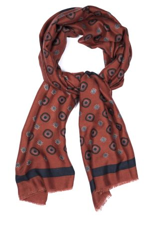 Cordone1956  - Scarf Mod. Scarves 13  - Fabric wool   - Color brick