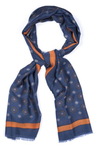 Cordone1956 - Scarf Mod. Scarves 14 - Fabric wool  - Color light bluee