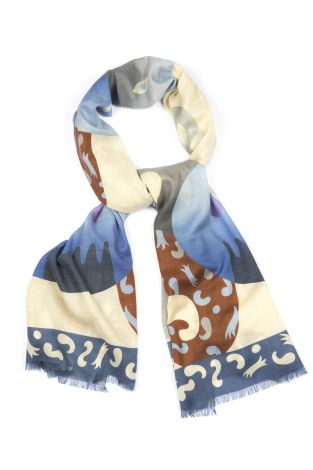 Cordone1956  - Scarf Mod. Scarves 25  - Fabric cashmere   - Color multicolor