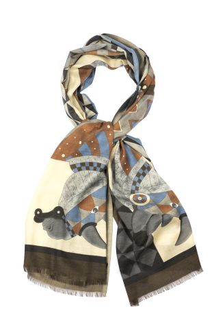 Cordone1956  - Scarf Mod. Scarves 32  - Fabric cashmere   - Color multicolor