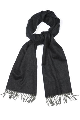 Cordone1956  - Scarf Mod. Scarves 39  - Fabric sable  - Color black/grey