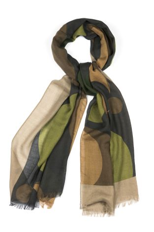 Cordone1956  - Scarf Mod. Scarves 42  - Fabric seta-wool   - Color multicolor