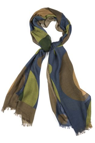 Cordone1956  - Scarf Mod. Scarves 44  - Fabric seta-wool   - Color multicolor