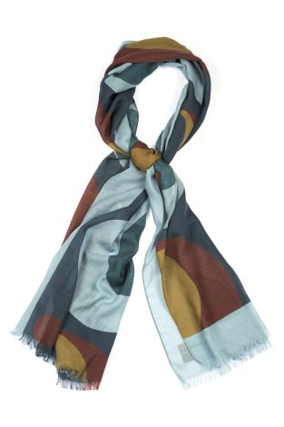 Cordone1956  - Scarf Mod. Scarves 45  - Fabric seta-wool   - Color multicolor