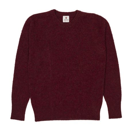 Cordone1956  - Knitwear Fulled Crew-Neck Red  - Fabric Lana Cashmere  - Color Red  -