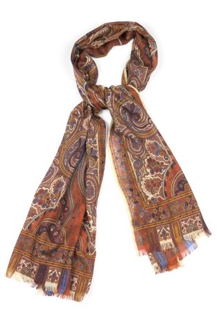 Cordone1956  - Scarf Mod. Scarves 48  - Fabric seta-wool   - Color multicolor