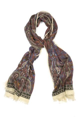 Cordone1956  - Scarf Mod. Scarves 50  - Fabric seta-wool   - Color multicolor