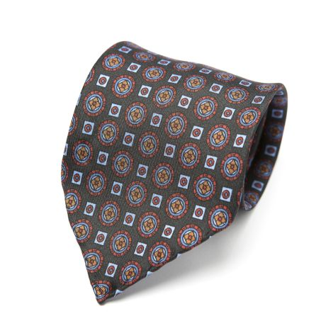 Cordone1956  - Necktie Mod. Ties 3 Fold  - Fabric silk - Color multicolor