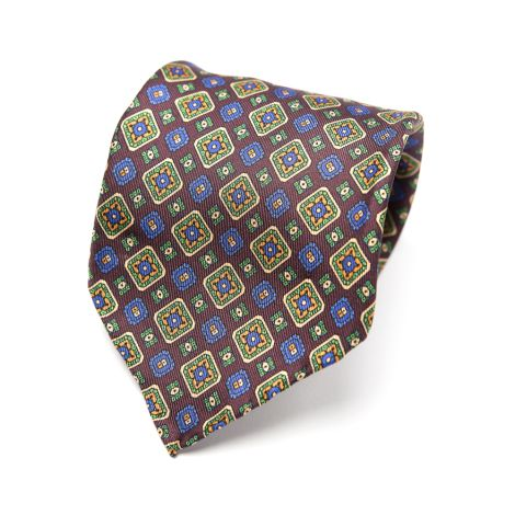 Cordone1956  - Necktie Mod. Ties 7 Fold   - Fabric silk - Color multicolor
