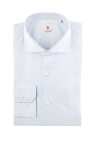 Cordone1956  - Classic Shirt Mod. Big Spina Azure  - Made by: Machine   - Type: casual  - Made In Italy
