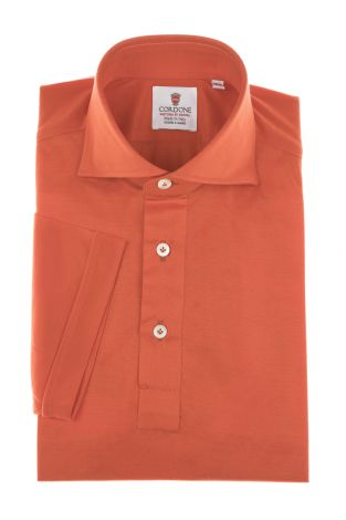 Cordone1956 - Mod. Shirt Polo Red - Short Sleeve - Shirt By-Hand - Made In Italy