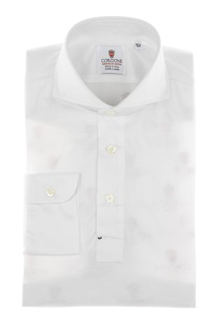 Cordone1956 - Mod. Shirt Polo White - Shirt By-Hand - Made In Italy