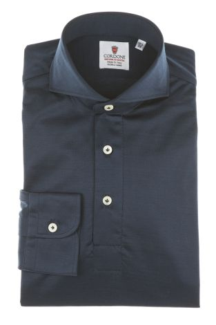 Cordone1956 - Mod. Shirt Polo Blu Navy - Shirt By-Hand - Made In Italy