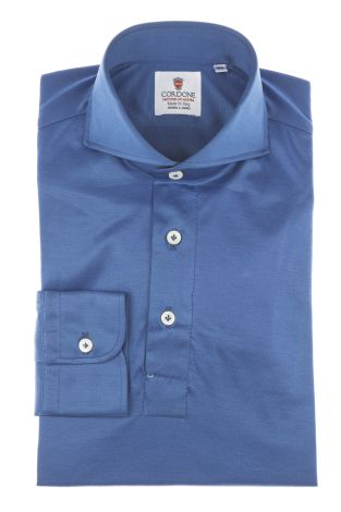 Cordone1956 - Mod. Shirt Polo Blu - Shirt By-Hand - Made In Italy