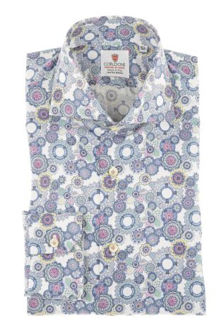 Cordone1956 - Shirts Limited Edition Mod. Firenze White - Made by Machine - Type Casual - Made In Italy
