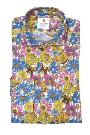 Cordone1956 - Shirts Linen Mod. Saint Barth - Made by Machine - Type Casual - Made In Italy