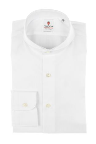 Cordone1956 - Tailored Shirt Mod. Shirt Spina White - Made by Machine - Made In Italy
