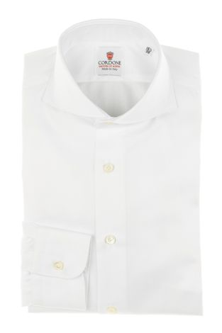 Cordone1956 - Tailored Shirt Mod. Shirt Big Spina White - Made by Machine - Made In Italy