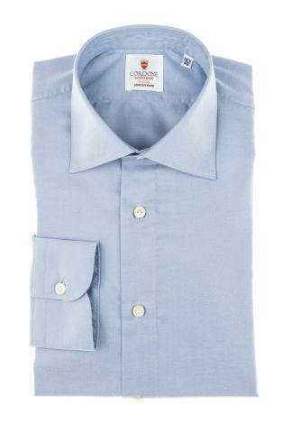 Cordone1956 - Tailored Shirt Mod. Shirt Little Oxford Blue By-Hand - Made by Hand - Made In Italy