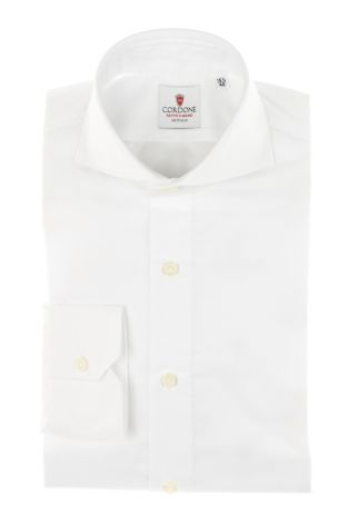 Cordone1956 - Tailored Shirt Mod. Shirt Twill White By-Hand - Made by Hand - Made In Italy