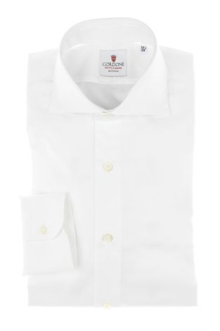 Cordone1956 - Tailored Shirt Mod. Shirts Classic Oxford White - Made by Machine - Made In Italy