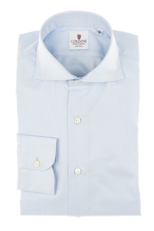 Cordone1956 - Tailored Shirt Mod. Shirts Classic Oxford  Azure - Made by Machine - Made In Italy