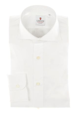 Cordone1956 - Tailored Shirt Mod. Shirt Yoga Twill White By-Hand - Made by Hand - Made In Italy