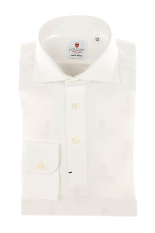 Cordone1956 - Mod. Shirt Polo White Jersey - Shirt By-Hand - Made In Italy