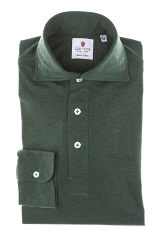 Cordone1956 - Mod. Shirt Polo Green Jersey - Shirt By-Hand - Made In Italy