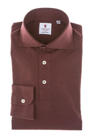 Cordone1956 - Mod. Shirt Polo Bordeaux Jersey - Shirt By-Hand - Made In Italy
