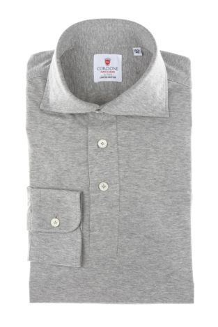 Cordone1956 - Mod. Shirt Polo Grey Jersey - Shirt By-Hand - Made In Italy