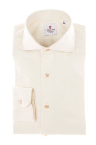 Cordone1956 - Tailored Shirt Mod. Shirt Flannel White - Made by Machine - Made In Italy