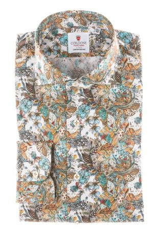 Cordone1956 - Tailored Shirt Mod. Butterfly Turquoise - Made by Machine - Made In Italy