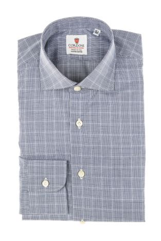 Cordone1956 - Tailored Shirt Mod. Dundee Blue - Made by Machine - Made In Italy