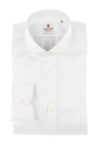 Cordone1956 - Tailored Shirt Mod. Twill White - Made by Machine - Made In Italy