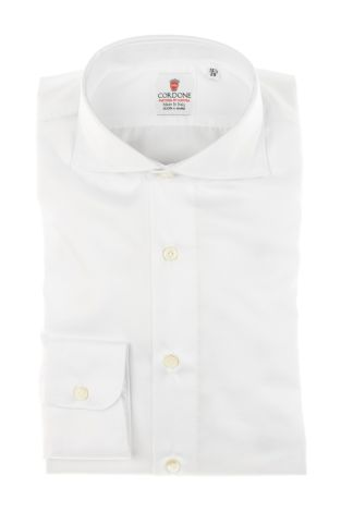 Cordone1956 - Tailored Shirt Mod. Twill White By Hand - Shirt by Hand - Made In Italy
