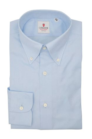 Cordone1956  - Classic Shirt Mod. Positano Panama Azure - Made by: Machine - Type: Casual - Made In Italy